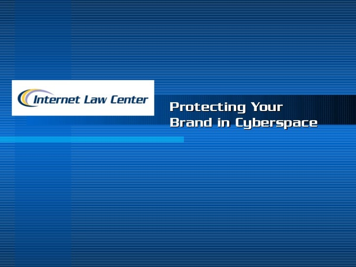 Protecting Your Brand in Cyberspace