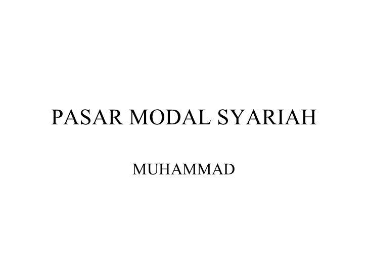 Pasar modal syari'ah