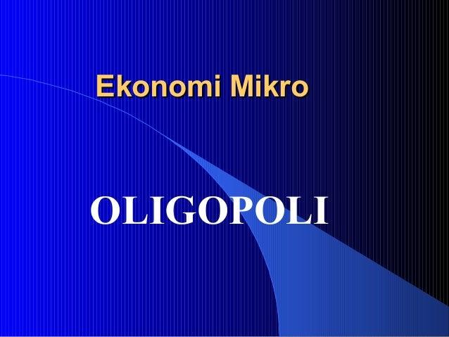 Pasar oligopolis