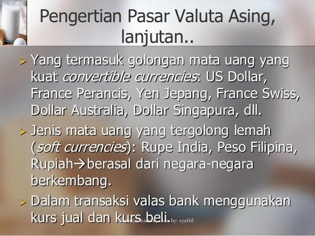 Definisi pasar mata uang asing