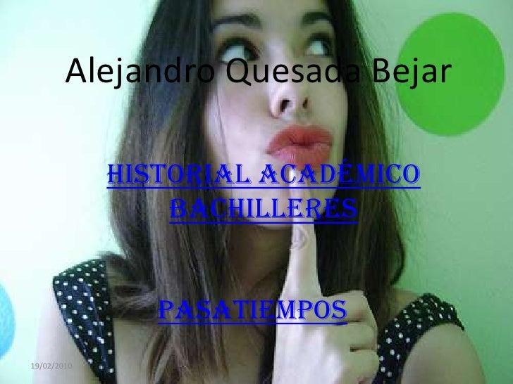 MMMM Alejandro Quesada