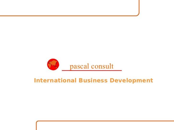 International Business Development pascal consult