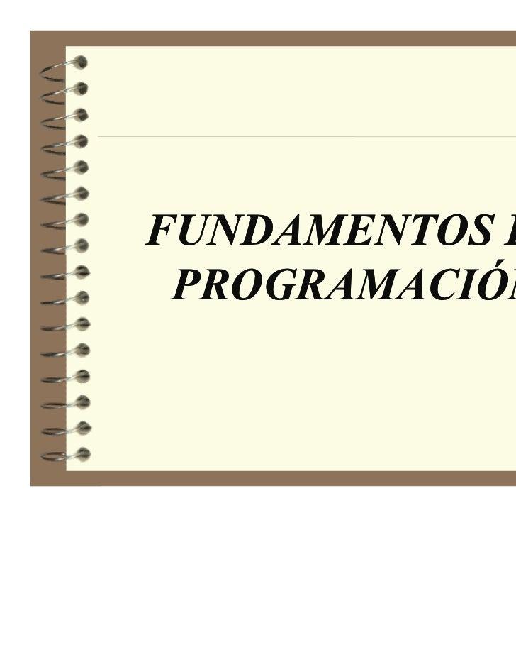 FU DAME TOS DE PROGRAMACIÓ