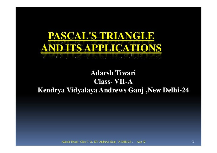 Pascal's triangle [compatibility mode]