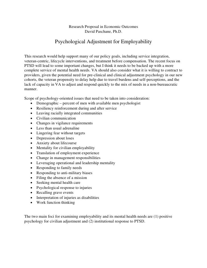 Psychological Adjustment For Employability