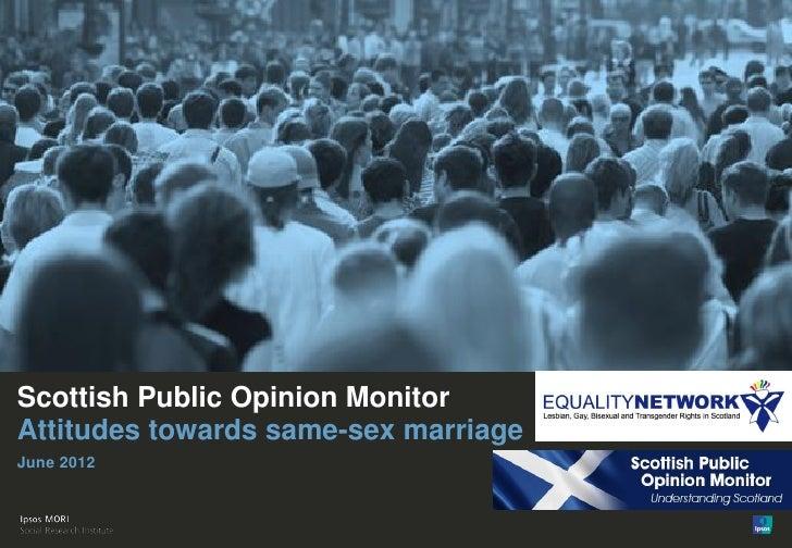 Public attitudes to same-sex marriage - Scottish Public Opinion Monitor