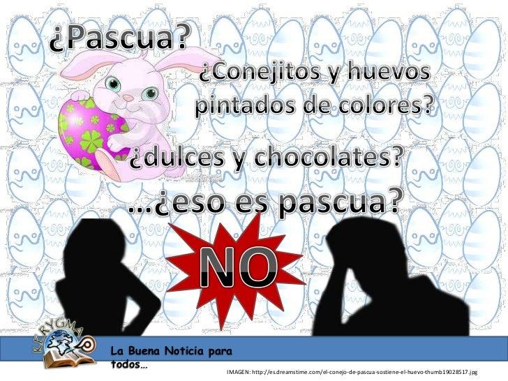 La Buena Noticia paratodos…                    IMAGEN: http://es.dreamstime.com/el-conejo-de-pascua-sostiene-el-huevo-thum...