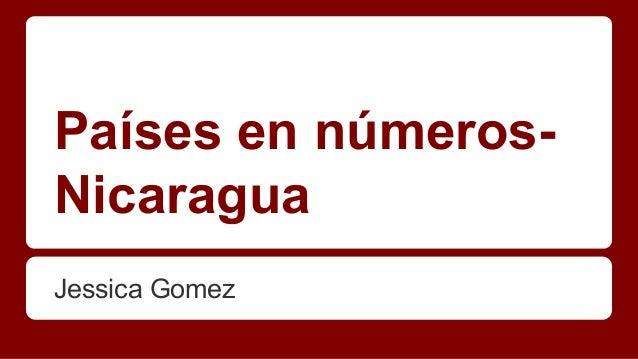 Países en númerosNicaragua Jessica Gomez