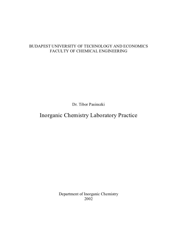 BUDAPEST UNIVERSITY OF TECHNOLOGY AND ECONOMICS        FACULTY OF CHEMICAL ENGINEERING                  Dr. Tibor Pasinszk...