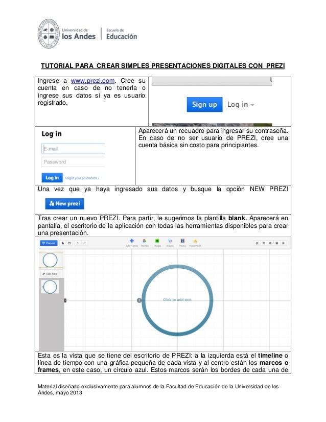Material diseñado exclusivamente para alumnos de la Facultad de Educación de la Universidad de losAndes, mayo 2013TUTORIAL...