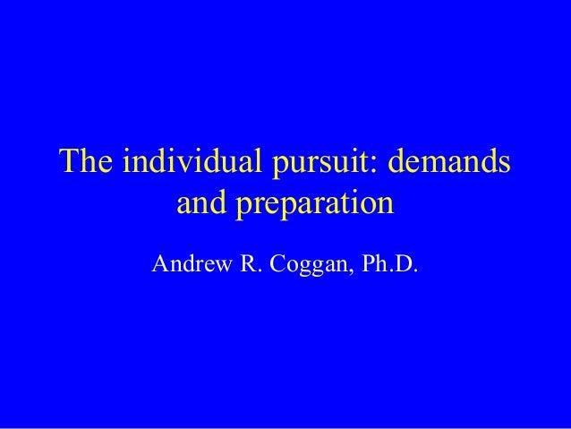 2005 Pan American Sports Organization talk on individual pursuit