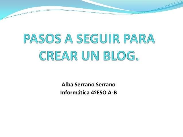 Pasos para crear un blog.