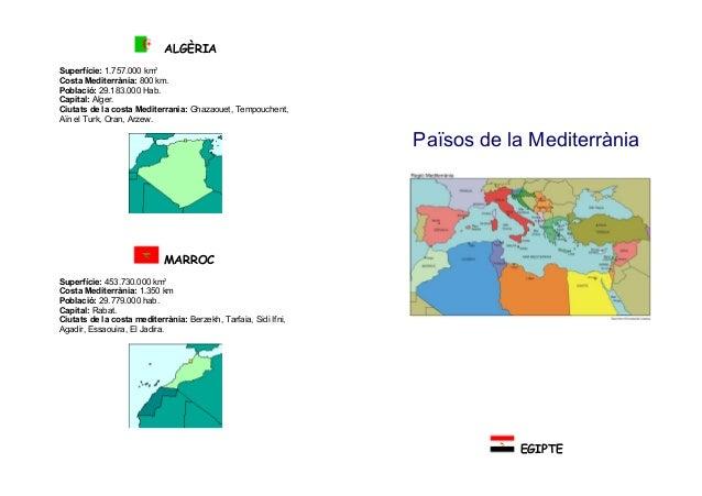 ALGÈRIA Superfície: 1.757.000 km2 Costa Mediterrània: 800 km. Població: 29.183.000 Hab. Capital: Alger. Ciutats de la cost...