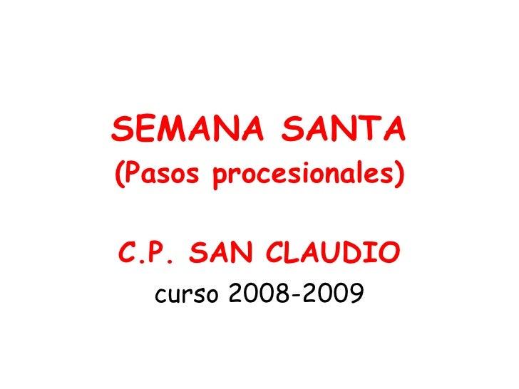 Pasos De Semana Santa 2008 2009
