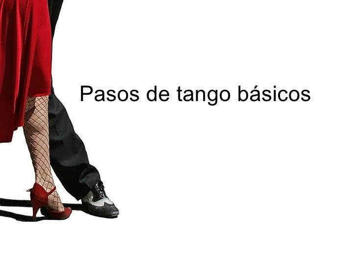 Pasos de tango básicos