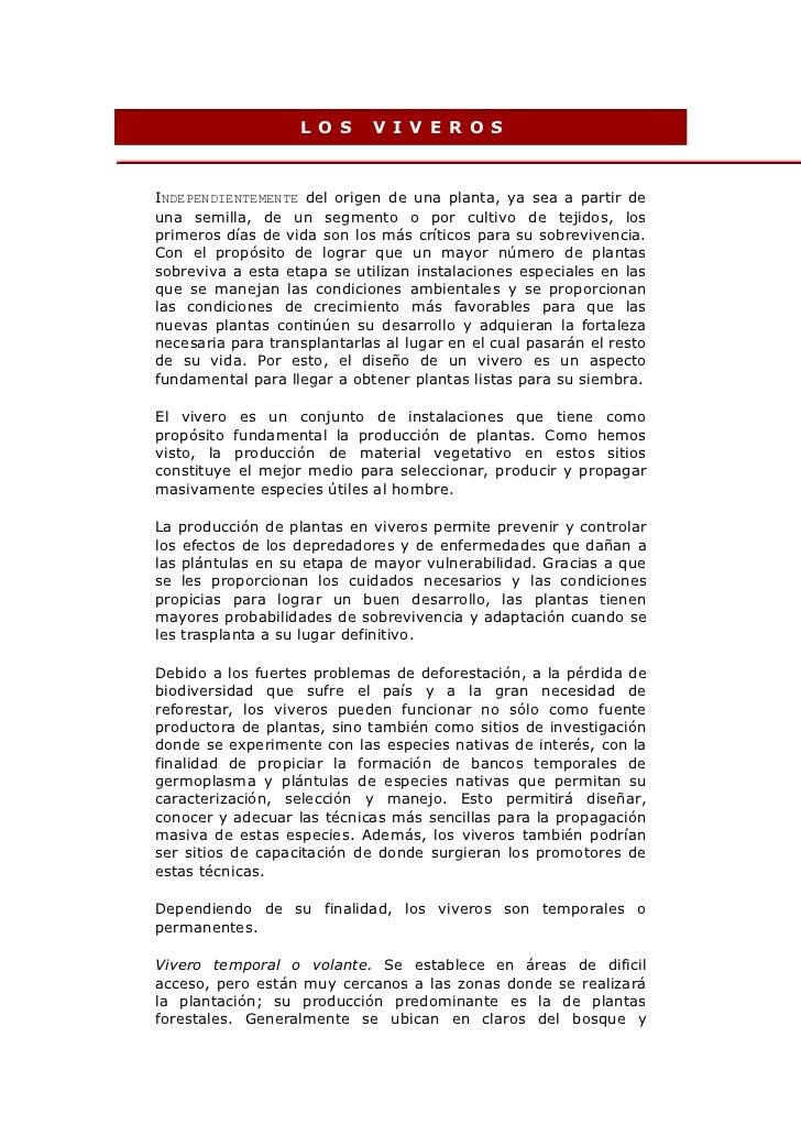 Pasos para construir un vivero for Proyecto vivero forestal pdf