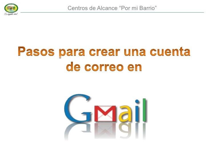Pasos para crear cuenta gmail