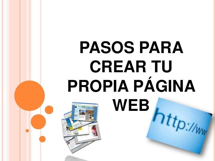 Pasos para crear tu propia p gina web Crear website
