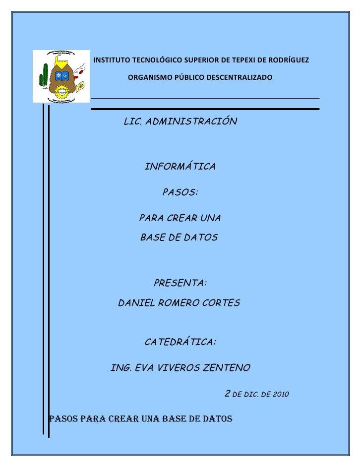 INSTITUTO TECNOLÓGICO SUPERIOR DE TEPEXI DE RODRÍGUEZ                ORGANISMO PÚBLICO DESCENTRALIZADO               LIC. ...