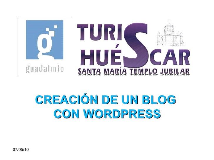 Pasos para crear un blog en word press