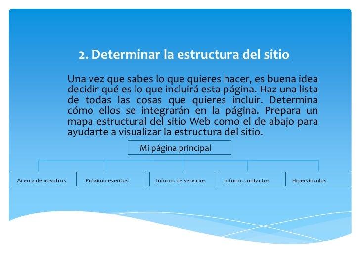 Pasos para crear un sitio web for Que es una pagina virtual