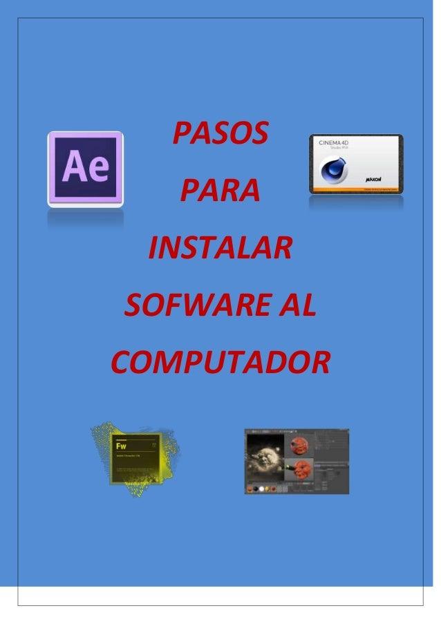 Pasos para instalar programas en tu pc