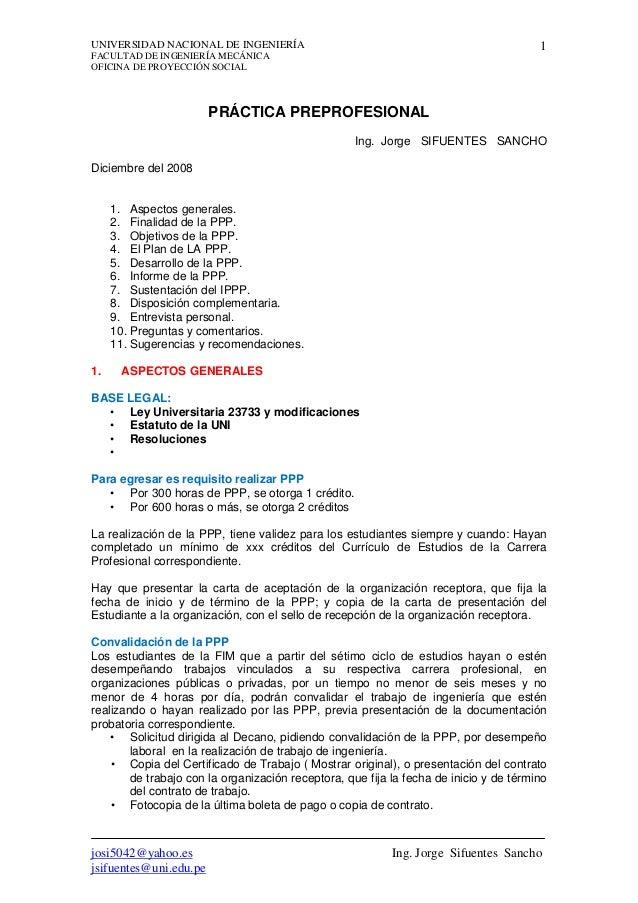 UNIVERSIDAD NACIONAL DE INGENIERÍA                                                      1FACULTAD DE INGENIERÍA MECÁNICAOF...