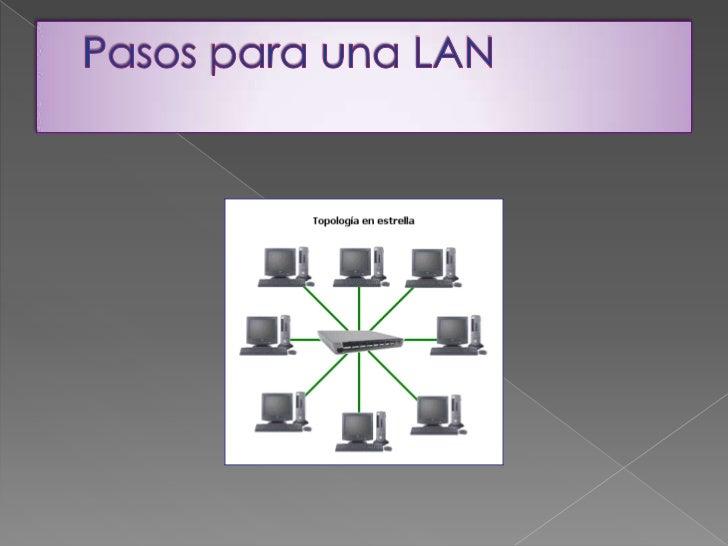 Pasos para una LAN<br />