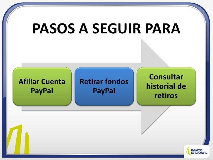 PASOS A SEGUIR PARA                                   ConsultarAfiliar Cuenta   Retirar fondos                            ...