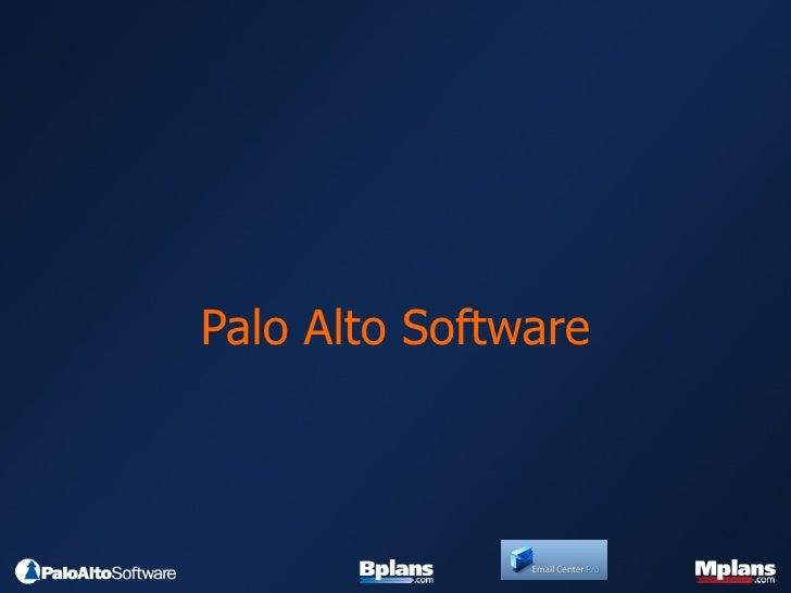 Palo Alto Software Company Overview