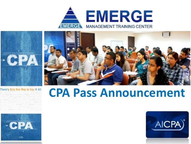 CPA Pass Announcement