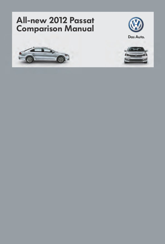 All-new 2012 PassatComparison Manual