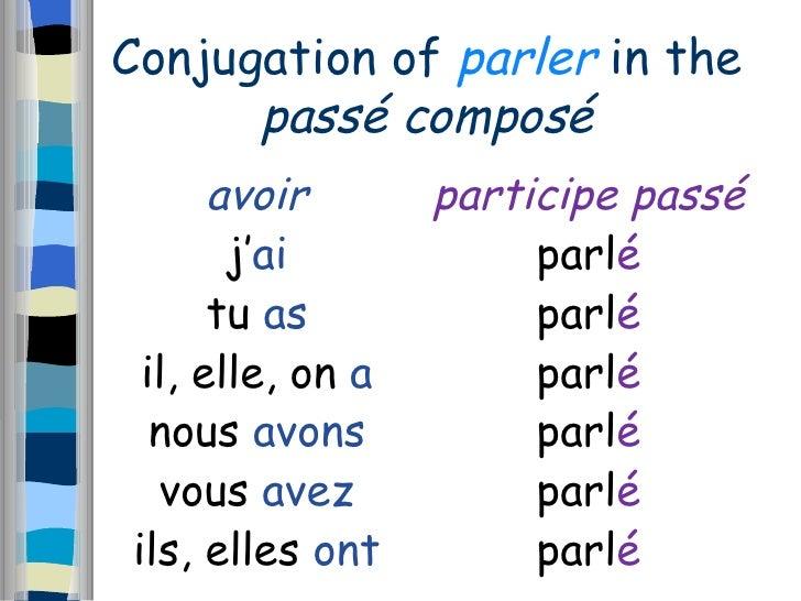 Conjugation of essayer