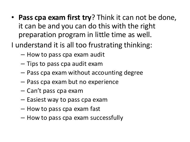 How To Answer A Cpa Exam Essay Question