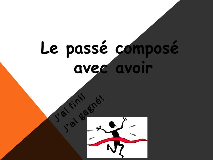 Passe compose with avoir