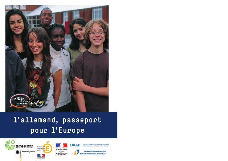 l'allemand, passeport     pour l'Europe