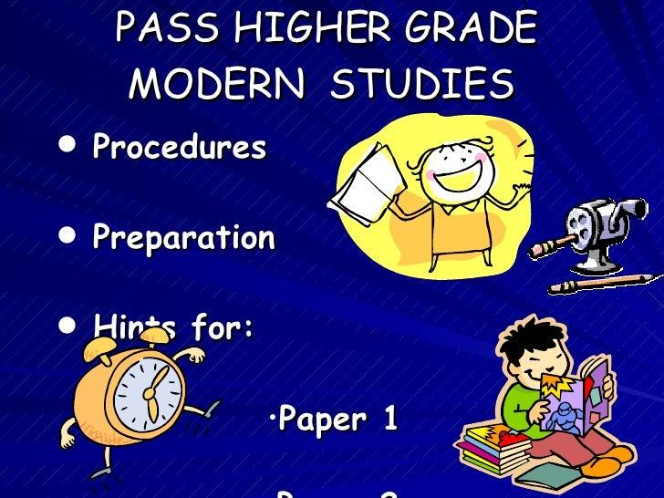 Pass Modern Studies Higher