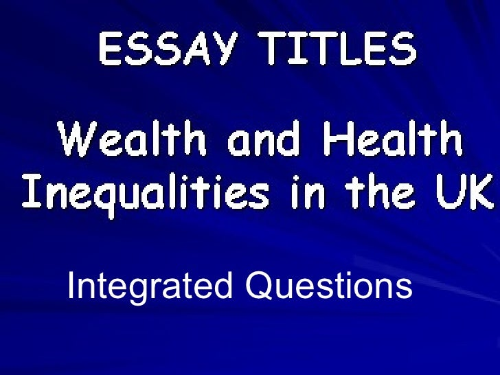 essay on inequality in health
