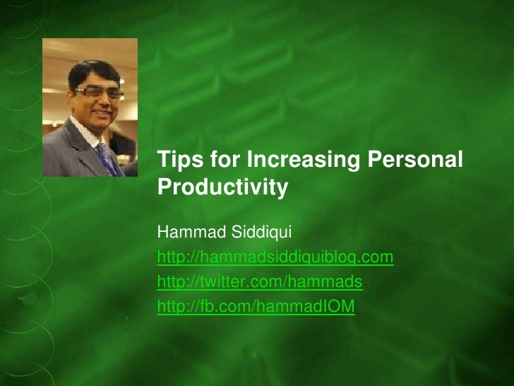 Tips for Increasing Personal Productivity