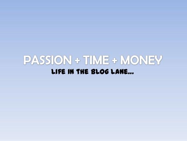 Life in the blog lane…