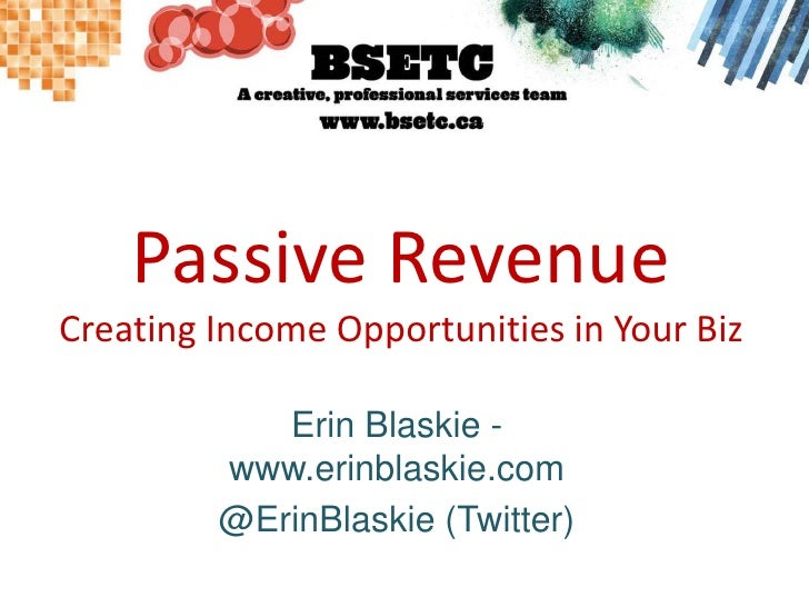 Creating Passive Revenue in Your Business