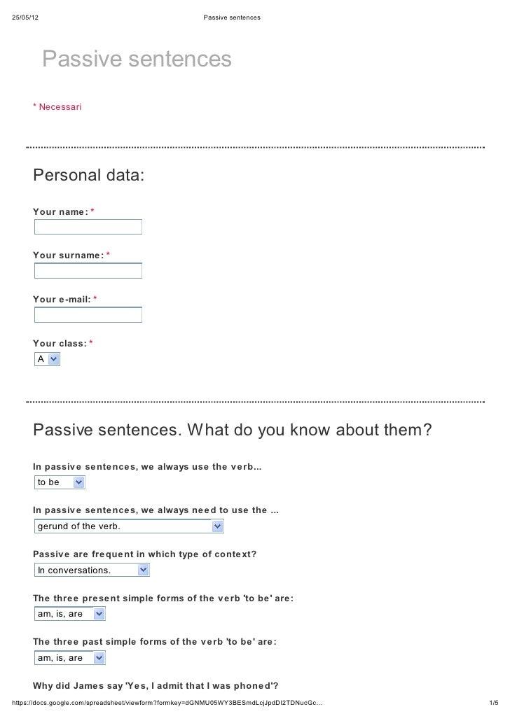 25/05/12                                            Passive sentences           Passive sentences      * Necessari      Pe...