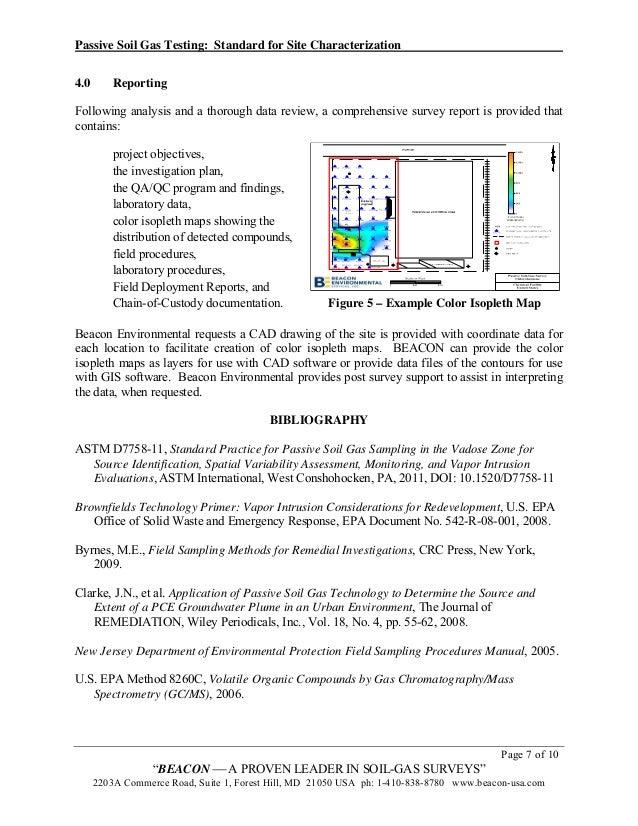 Soil Gas Sampling Passive Soil Gas Testing