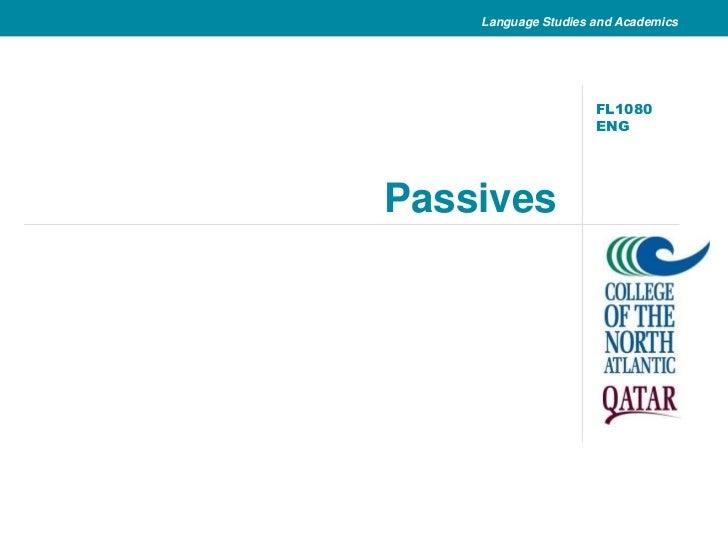 Passives<br />FL1080 ENG<br />