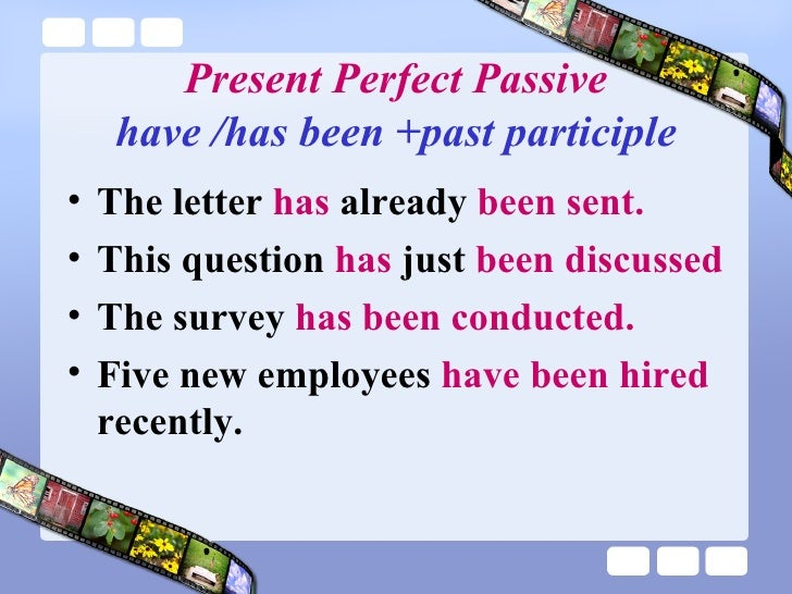 Present Perfect Passive Voice Worksheet on Present Perfect Passive Voice Worksheet