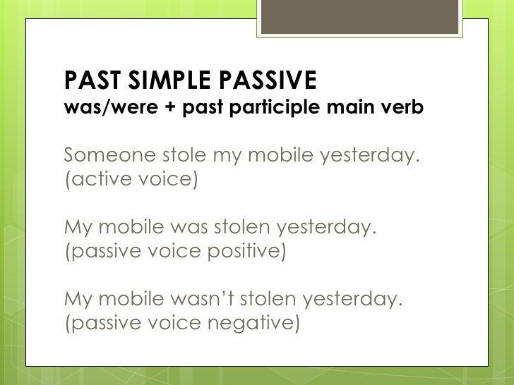 Passive voice basic