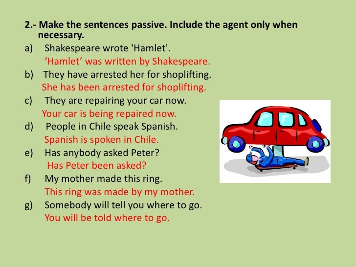 Worksheets 1000 Active Passive Sentences english grammar exercises active passive voice vs exercises