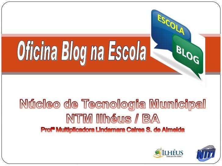 Blog na escola