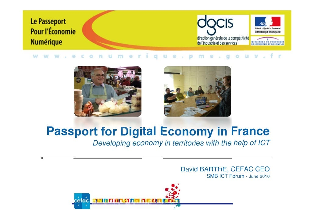 Passport for Digital Economy in France        Developing economy in territories with the help of ICT                      ...