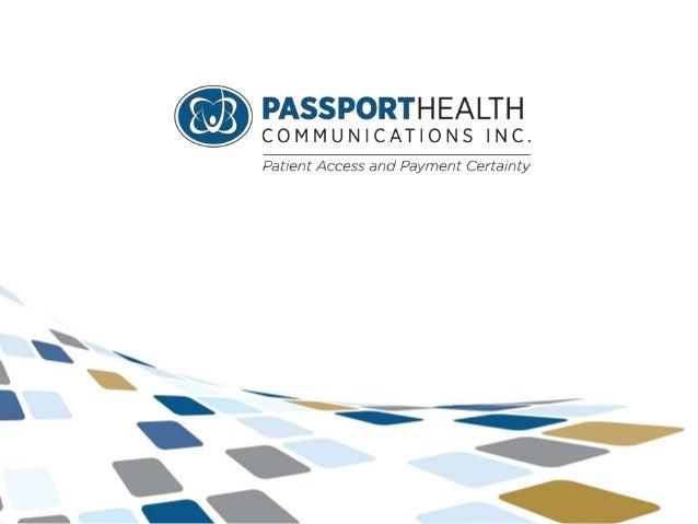 © Passport Health Communications Inc.  1